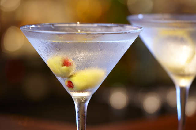 Martinis at Shaker's Martini Bar